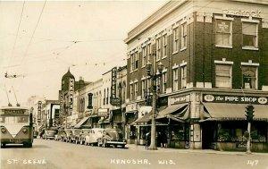WI, Kenosha, Wisconsin, 1940's Cars, Pipe Shop, Seagals,RPPC