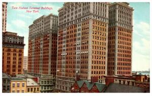 11553 NY  Manhatten   1912 Twin Hudson Terminal Bldgs torn down for Twin Towers