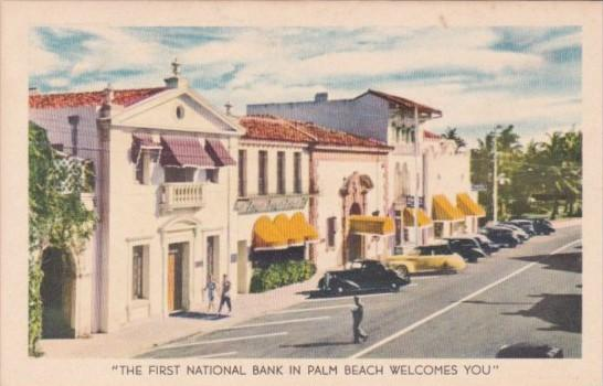 Florida Palm Beach The First National Bank 1943