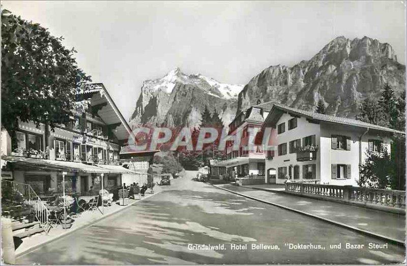 Modern Postcard Grindelwald Wetterhorn und Mettenberg Hotel Bellevue Dokterhu...
