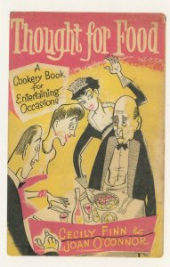Thought For Food Cecily Finn Joan O'Connor 1957 Book Postcard