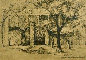 Marshall Gate Church St Charleston SC Drawn By Elizabeth Verner Vintage Postcard