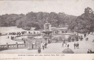 New York City Central Park Bethesda Fountain and Lake