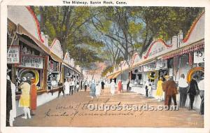 Savin Rock, Connecticut, CT, USA Postcard The Midway Unused