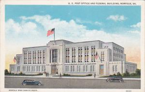 U. S. Post Office And Federal Building, NORFOLK, Virginia, 1910-1920s