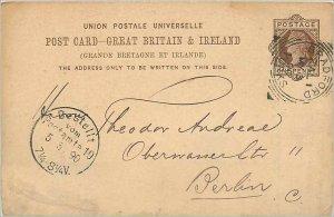 Entier Postal Stationery Postal Great Britain Great Britain 1899 Bradford to ...