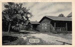 F14/ Hessel Michigan Postcard c1940s Ehle's Cabins Camp 1
