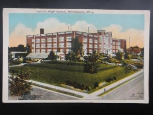 USA MINNEAPOLIS Central High School - Old Postcard by Co-Mo Co.
