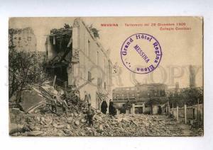 192554 Italy MESSINA Earthquake 1908 Hotel Regina Elena mark