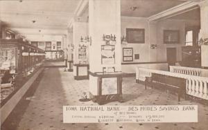 Iowa Des Moines Iowa National Bank Des Moines Savings Bank Interior 1909 Real...