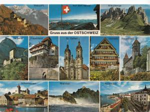 Switzerland, Suisse, Gruss aus der OSTSCHWEIZ, 1974 used Postcard