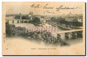 CARTE Postale Old Paris Panorama of the City