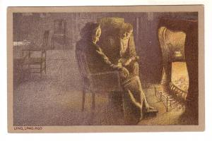 Old Woman and Man in Front of a Fireplace, Long, Long, Ago, M Ettlingger New ...