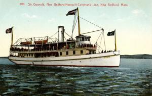 MA - New Bedford. Steamer Gosnold, New Bedford-Nonquitt-Cuttyhunk Line