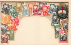 Argentina Stamps on Early Embossed Postcard, Unused, Published by Ottmar Zieher