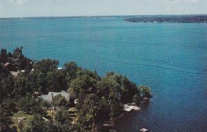 Aerial view of Wahnita Lodge,  Sturgeon Lake,  Dunsford,  Ontario,  Canada,  ...