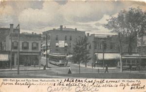 Mechanicsville New York~Park Avenue & Main Street~Trolley from Saratoga~c1910