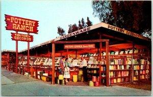 Monrovia, California Postcard THE POTTERY RANCH Highway 66 Roadside Chrome