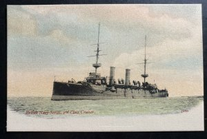 Mint England Color Picture Postcard British Navy Series Class Cruiser