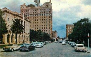 Automobiles Matamoros Federal Bldgs Roberts Barrera Laredo Texas Postcard 4024