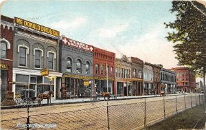 F94/ Fargo North Dakota Postcard c1910 Front Street Stores McDonald