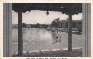 New Mexico Roswell State Park Swimming Pool 1946