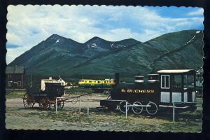 Carcross, Yukon, Canada Postcard, The Duchess Railroad/RR, Stagecoach