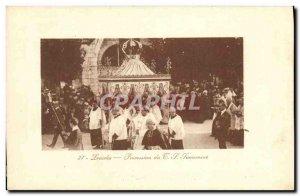 Old Postcard Lourdes Blessed Sacrament Procession