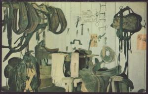 Eblers Saddle and Harness Shop.CA Postcard BIN