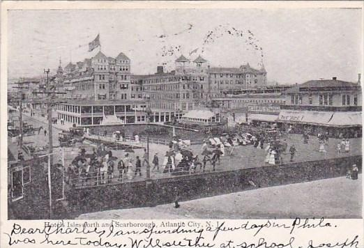 New Jersey Atlantic City Hotels Islesworth And Scarborough 1907