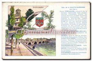 Postcard Old Toulouse on the Garonne Archeveche Court of Appeals Chief Place ...