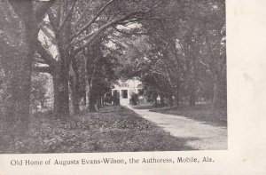 MOBILE , Alabama , 00-10s ; Old Home of Augusta Evans-Wilson , the Authoress