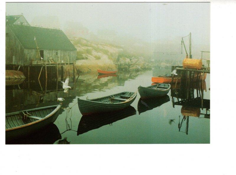 Large 5 X 7 inch Postcard, Boats Peggy's Cove Nova Scotia
