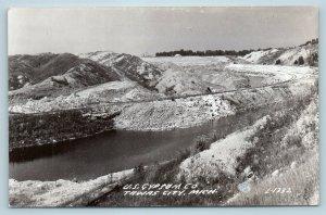 Postcard MI Tawas City US Gypsum Company Quarry Railroad Tracks RPPC Photo P18