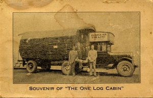 WA - The One-Log Cabin. Adv for N.E. Retail Lumberman's Assn FOLD-OUT, very...