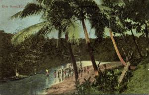 fiji islands, River Scene (1910s) Art Series