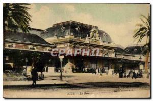 Old Postcard Nice La Gare