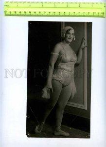 230370 USSR LENINGRAD Circus Ciniselli dancer 1920-year photo