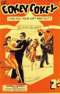 Postcard Nostalgia Great Singing & Dancing Sensation Cokey Cokey 1942 Repro