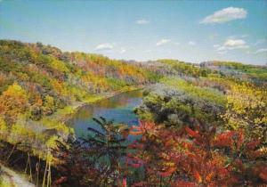 Canada Ontario Autumn Scene On Grand River Between Kitchener and Cambridge
