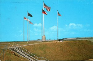 South Carolina Charleston Fort Sumter National Monument Five Different Flags