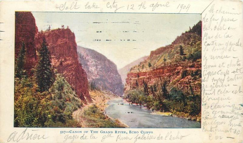 Canon of the Grand River Echo Cliffs 1904