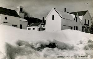 VT - Plymouth. President Coolidge Birthplace in Winter    *RPPC