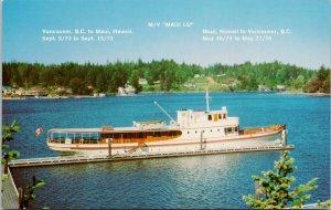 MV 'Maui Lu' Boat Vancouver BC to Hawaii & Return 1973-74 Postcard G51