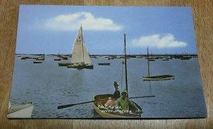 Vintage Postcard Sailing At West Mersea Essex  Postmarked  1964 F1B