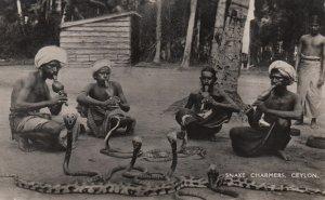RP: Snake Charmers , CEYLON , 1930s