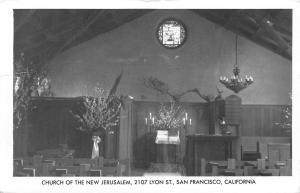 San Francisco CA Menlo Park~Church of the New Jerusalem Interior~RPPC 1961