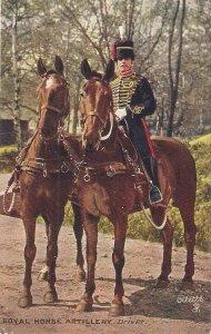 The Royal Horse Artillery. Driver Tuck Oilette PC # 9425