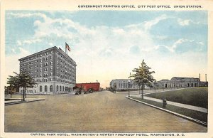 Government Printing Office, City Post Office Union Station Washington D.C. Tr...
