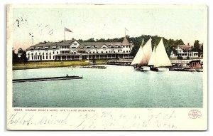 Grande Pointe Hotel, St. Clair River, MI Postcard *7B7